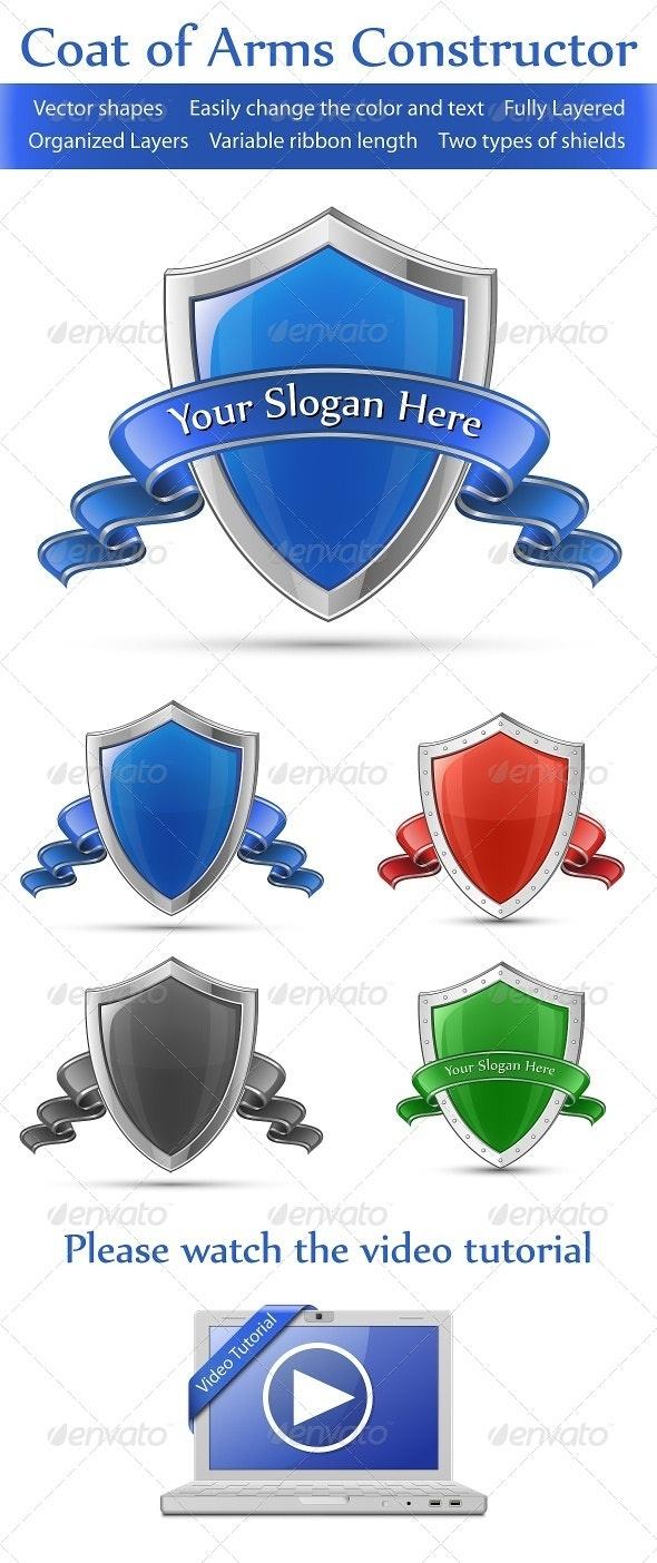 Coat of Arms Constructor - Decorative Symbols Decorative
