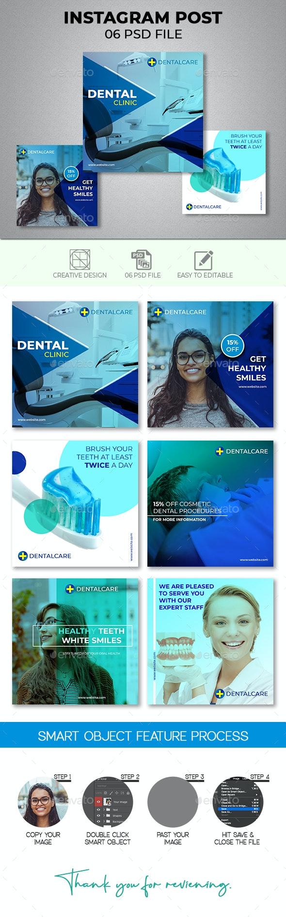 Dental Instagram Posts - Social Media Web Elements