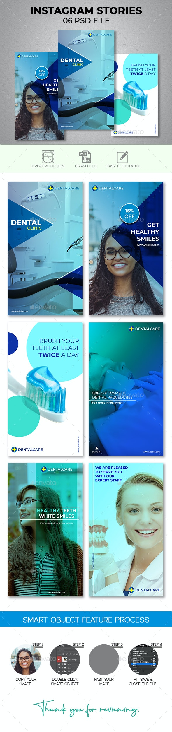 Dental Instagram Stories - Social Media Web Elements