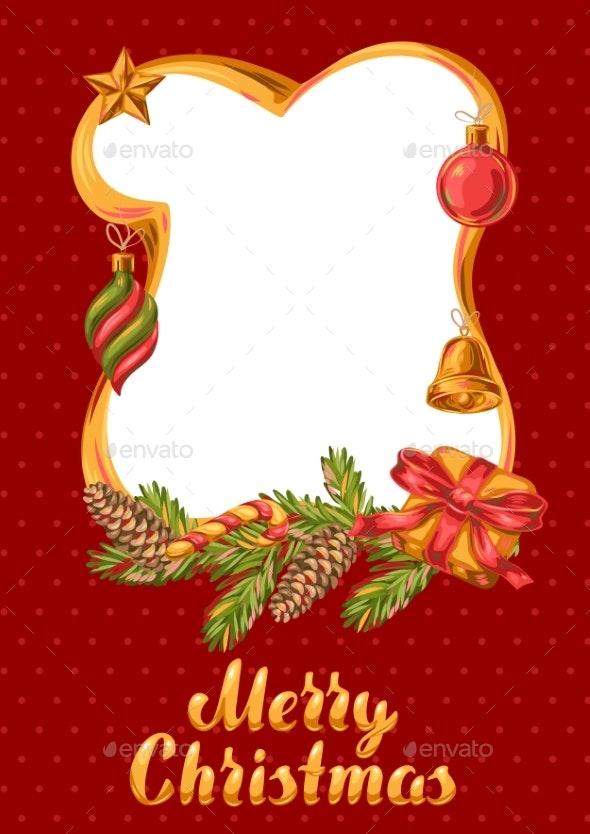 Merry Christmas Frame Design - Christmas Seasons/Holidays