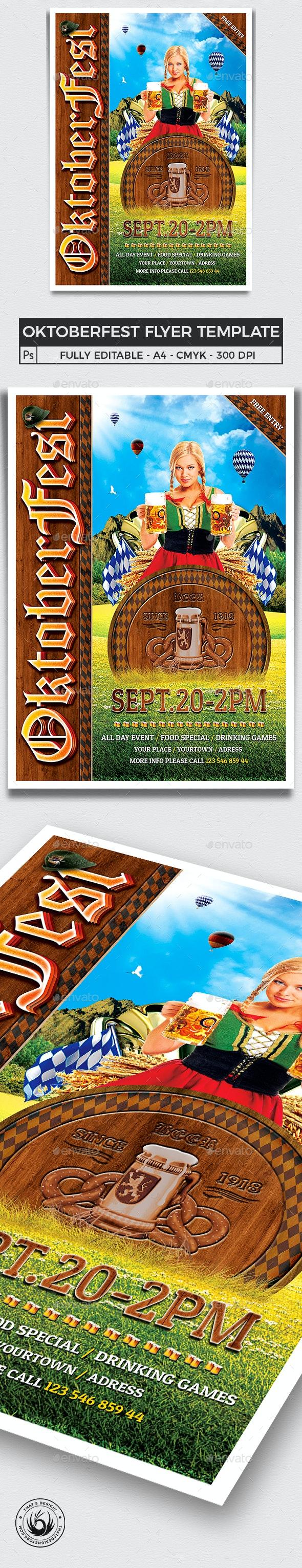 Oktoberfest Flyer Template V3 - Holidays Events