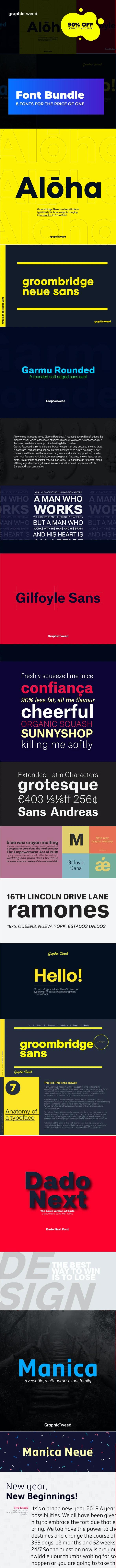 Font Bundle (9 Fonts for the Price of 1) - Miscellaneous Sans-Serif