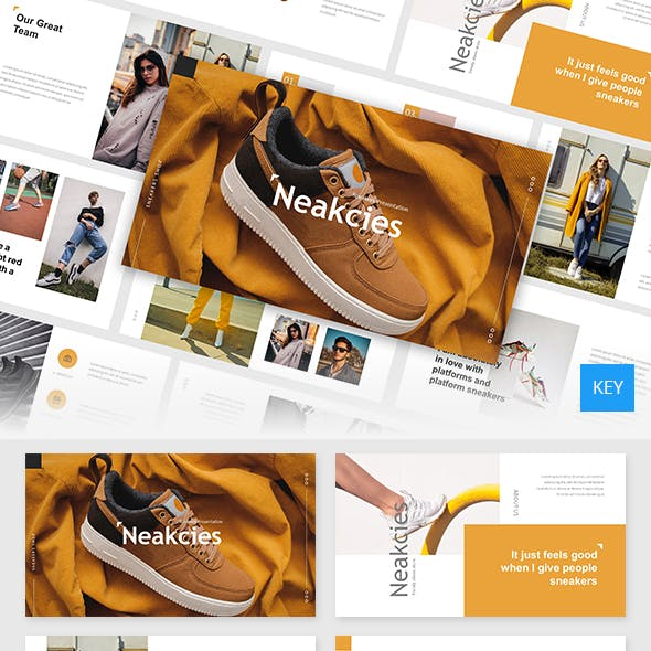 Neakcies - Sneakers and Shoes Keynote Template