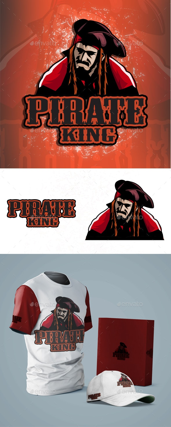 Pirate King - Esport Logo - People Characters