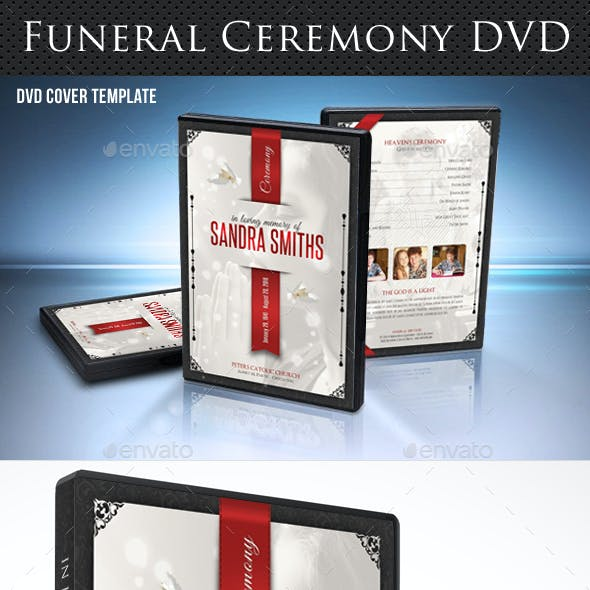 Funeral Ceremony DVD Cover Template V5