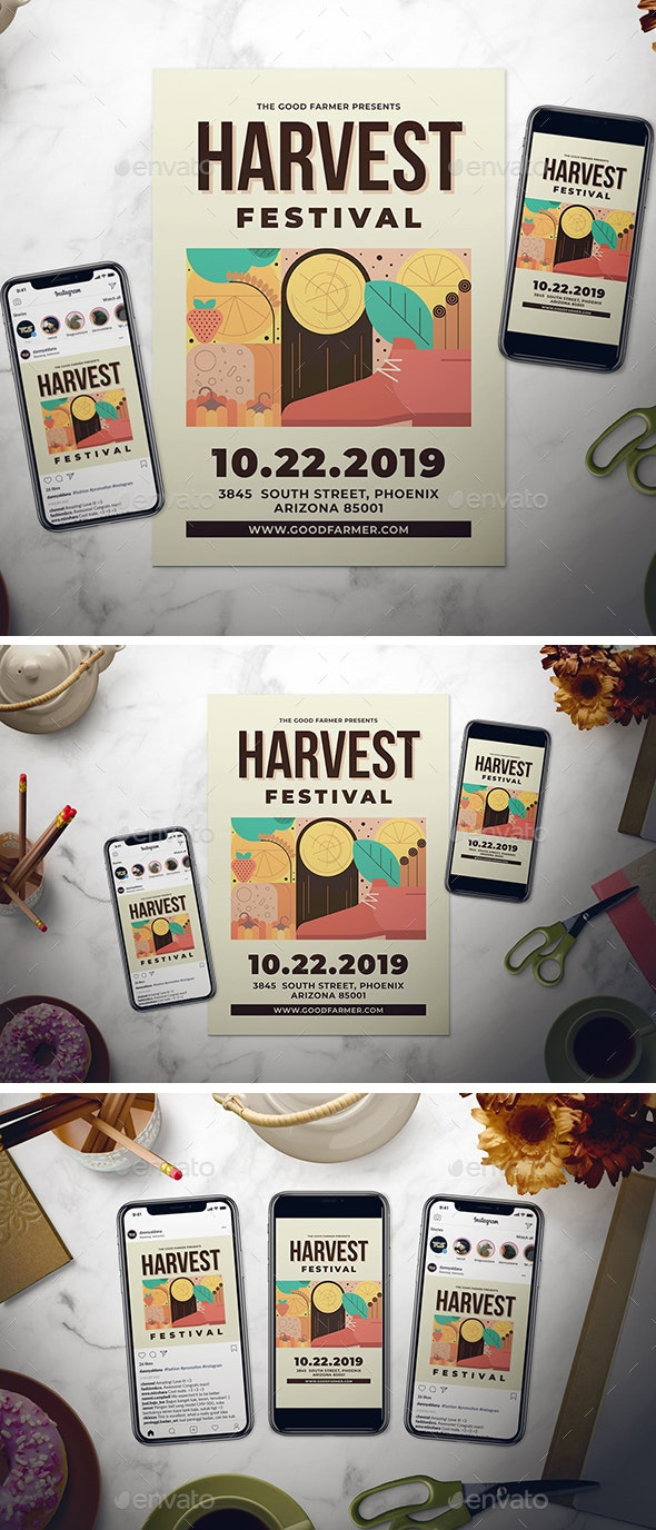 Harvest Festival Flyer Set - Holidays Events