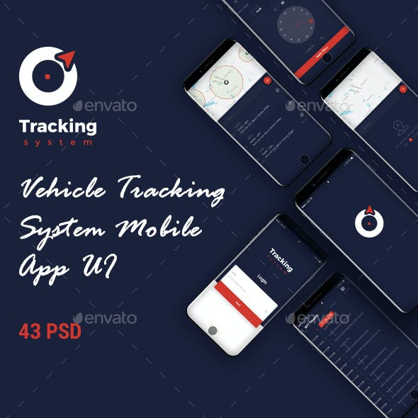 Vehicle Tracking System Mobile App UI