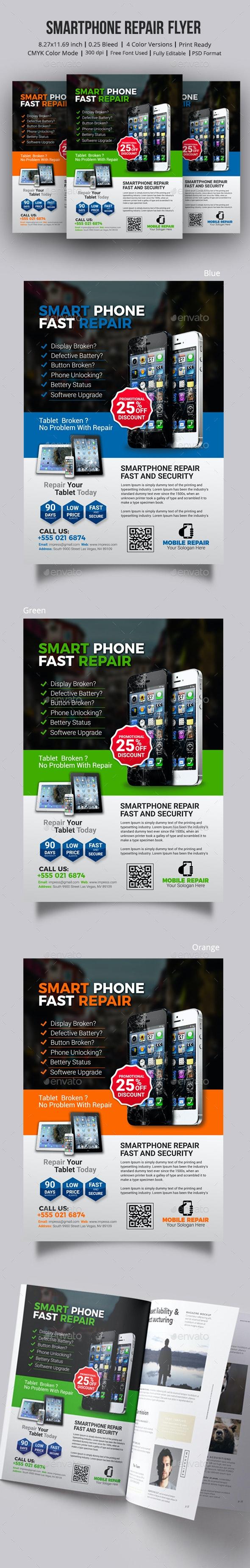 Smartphone Repair Flyer - Commerce Flyers