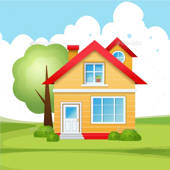 House Vector Design Template - Buildings Objects