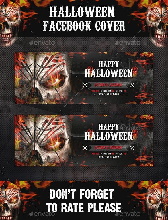Halloween Facebook Cover - Social Media Web Elements