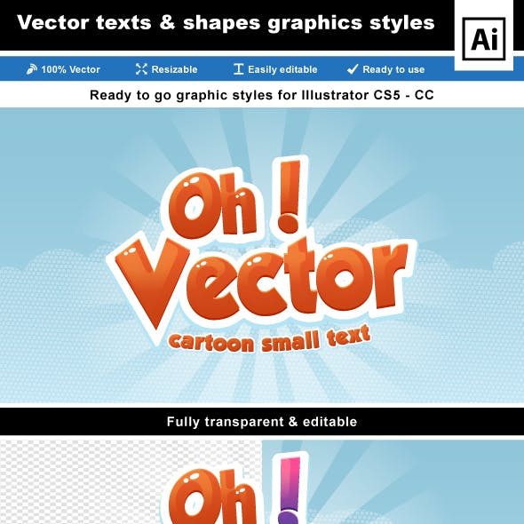 Cartoon Text Effects for Illustrator