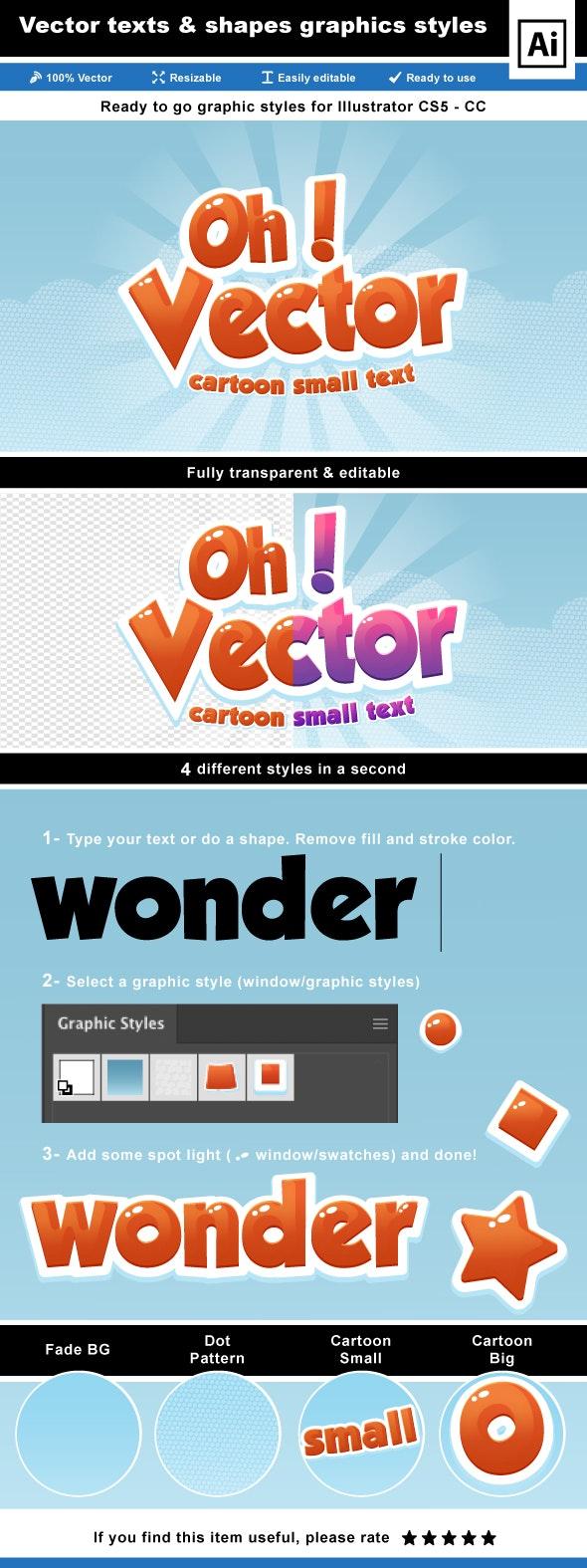 Cartoon Text Effects for Illustrator - Styles Illustrator