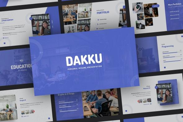 Dakku - Personal CV Resume Presentation Template - PowerPoint Templates Presentation Templates