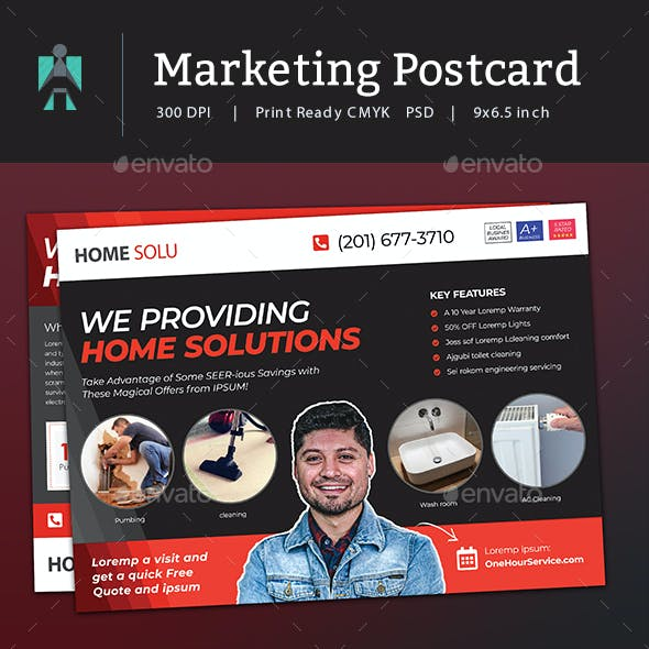 Marketing Postcard and Every Door Direct Mail EDDM