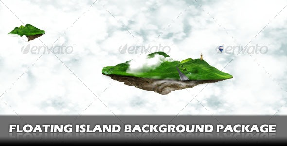 Floating Island Background Pack - Backgrounds Graphics
