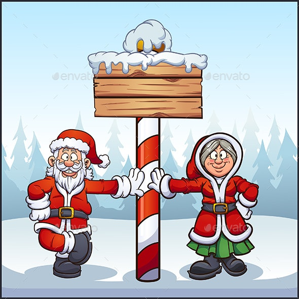 Santa and Mrs. Santa - Christmas Seasons/Holidays