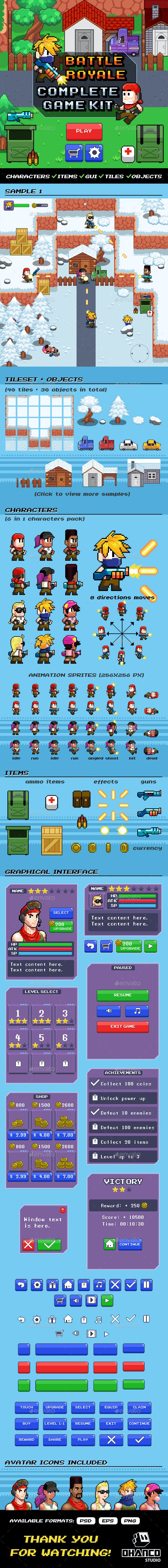 Shooter / Battle Royale - Complete Kit - Game Kits Game Assets