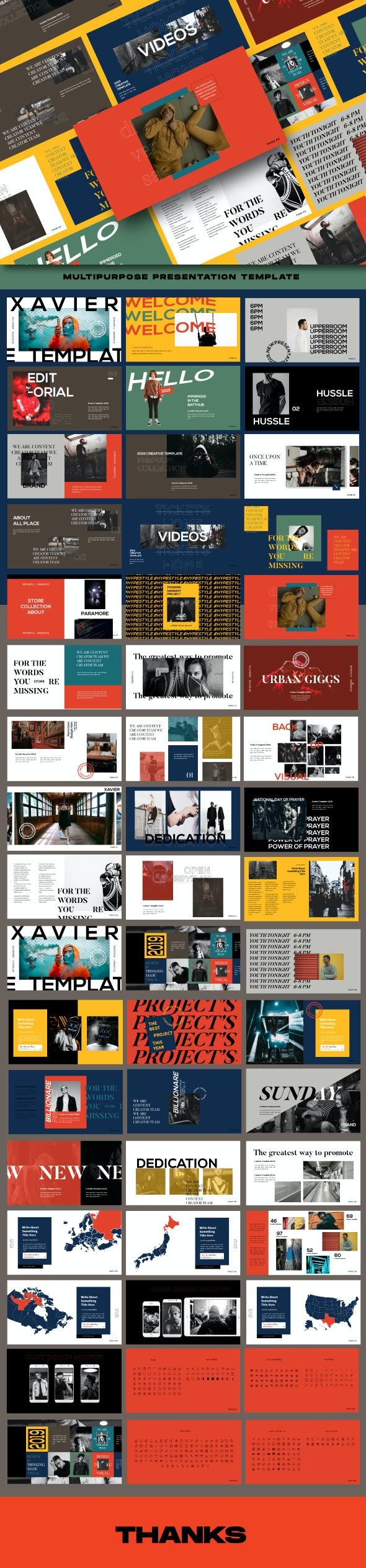 Xavier Creative Keynote Template - Business Keynote Templates