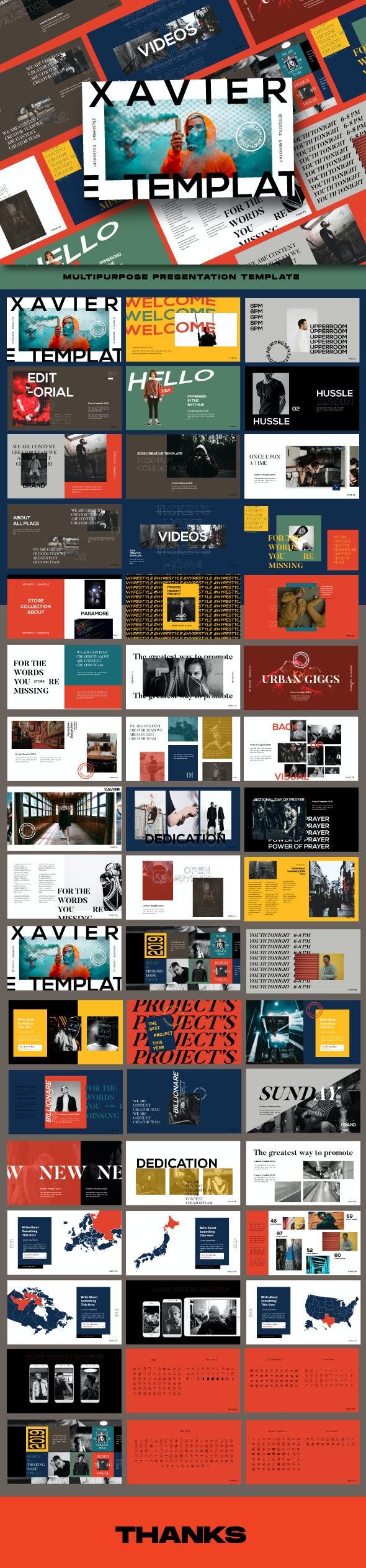 Xavier Googleslide Presentation Templates - Google Slides Presentation Templates