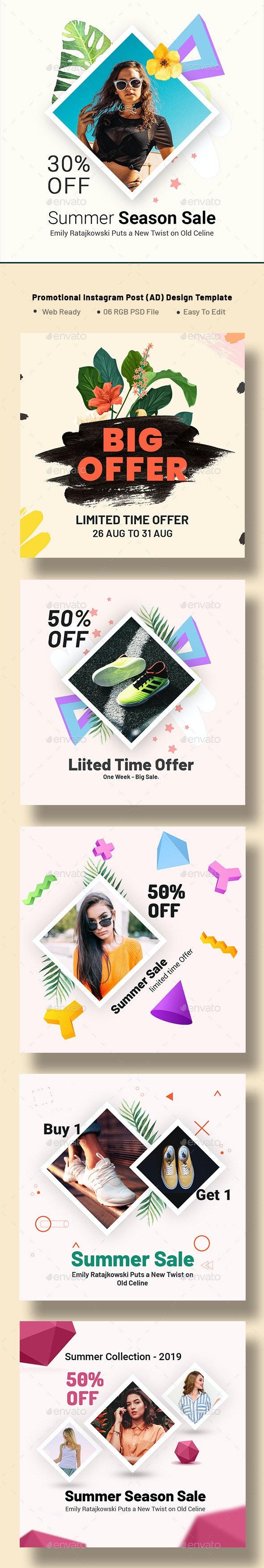 Promotional Instagram Post (AD) Design Template - Social Media Web Elements