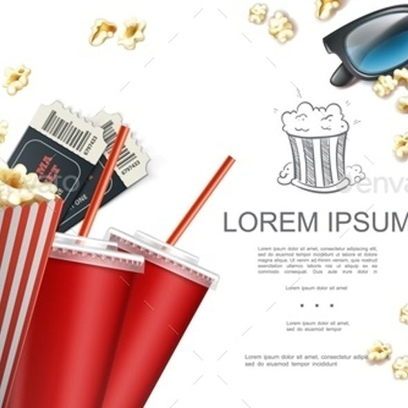 Realistic Cinema Elements Background