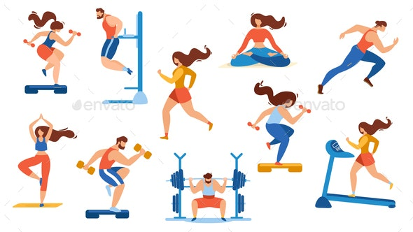 Summer Time Sport Activities Set Isolated on White - Sports/Activity Conceptual
