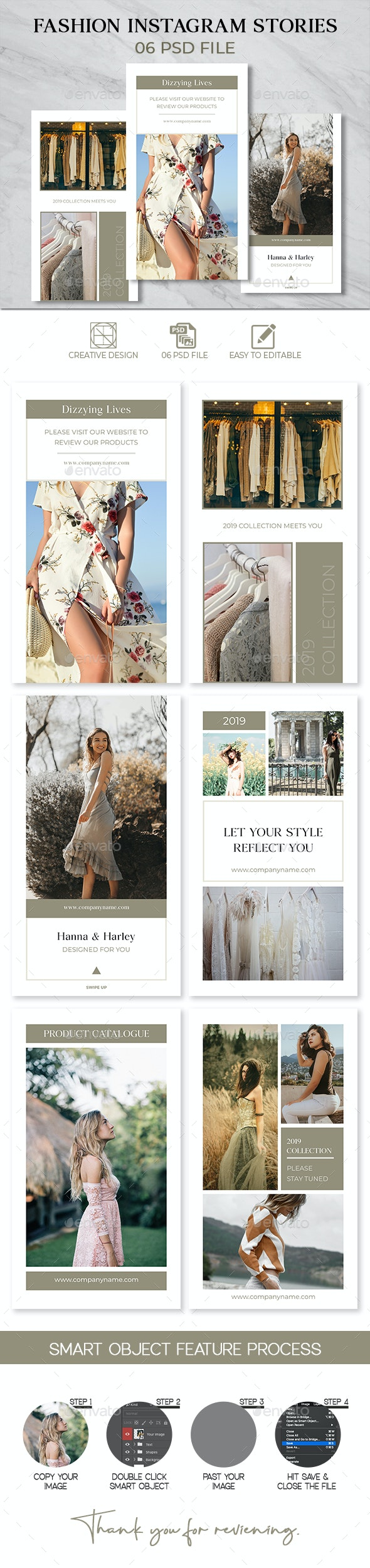 Fashion Instagram Stories - Social Media Web Elements