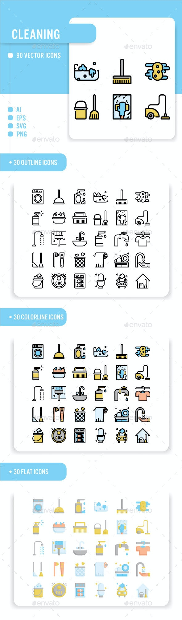 Cleaning - Miscellaneous Icons
