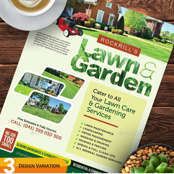 Lawn & Landscaping Flyer Templates