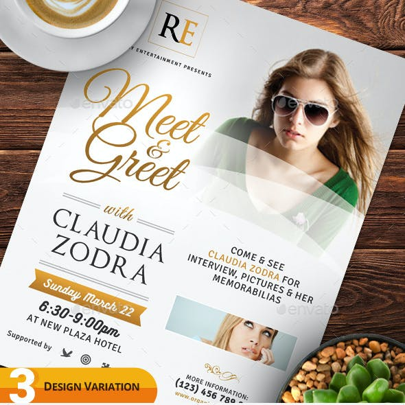 Meet & Greet Flyer Templates