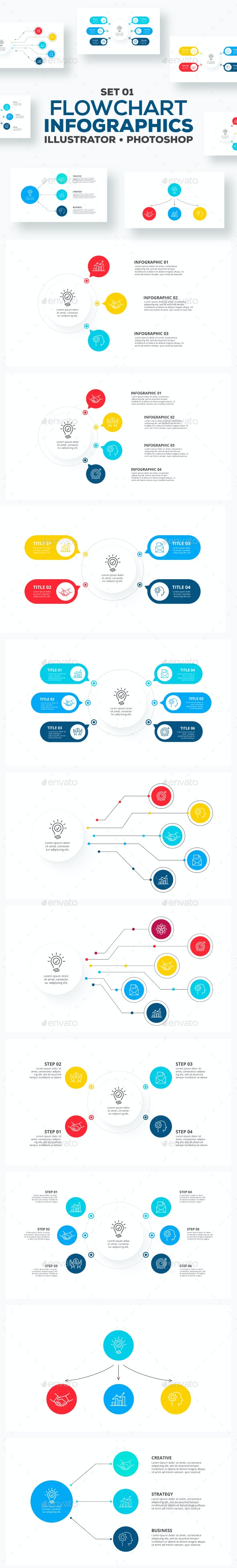 Flowchart Infographics Set 01 - Infographics