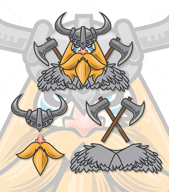Viking with Axe and Fur Set - People Characters