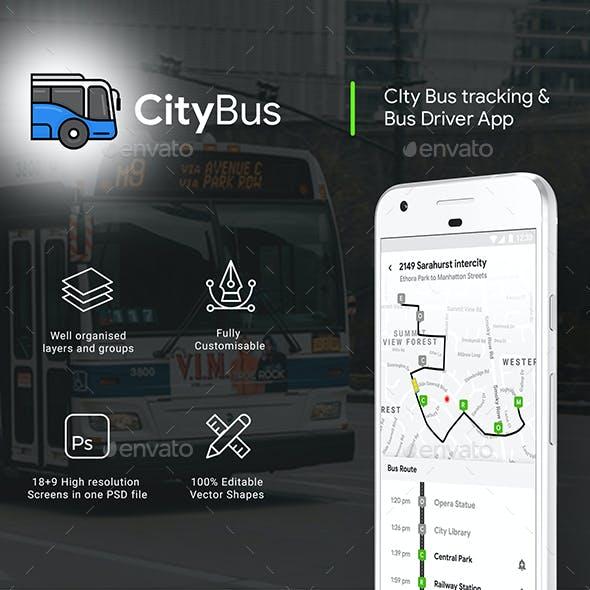 City Bus Tracking App & Driver App Full UI Kit
