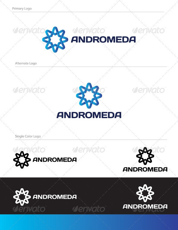 Andromeda Logo Design - ABS-024 - Symbols Logo Templates