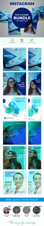 Dental Instagram Posts & Stories - Social Media Web Elements