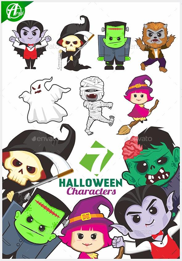 Halloween Mascot - Characters Vectors