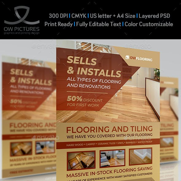 Flooring and Tiling Flyer Templates