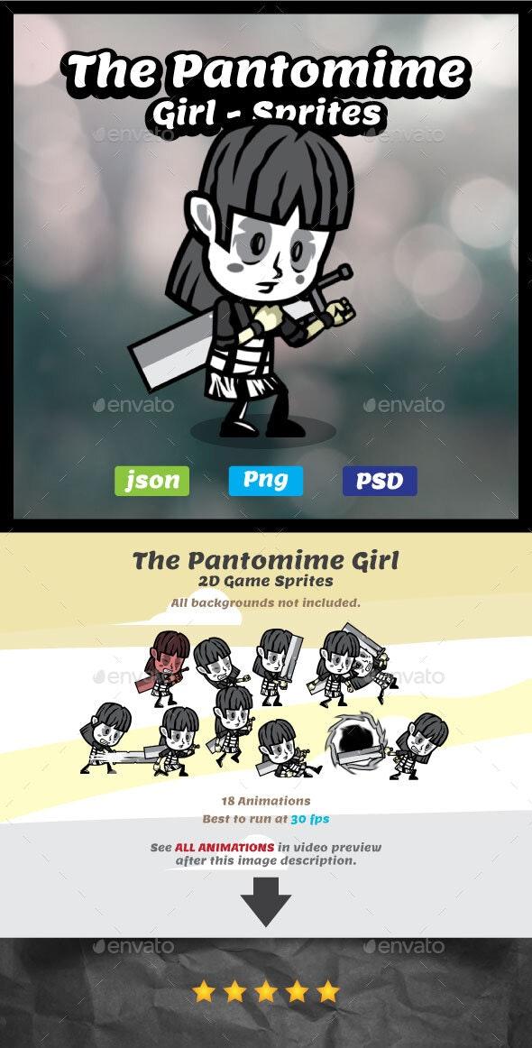 The Pantomime Girl Game Asset Sprites - Sprites Game Assets
