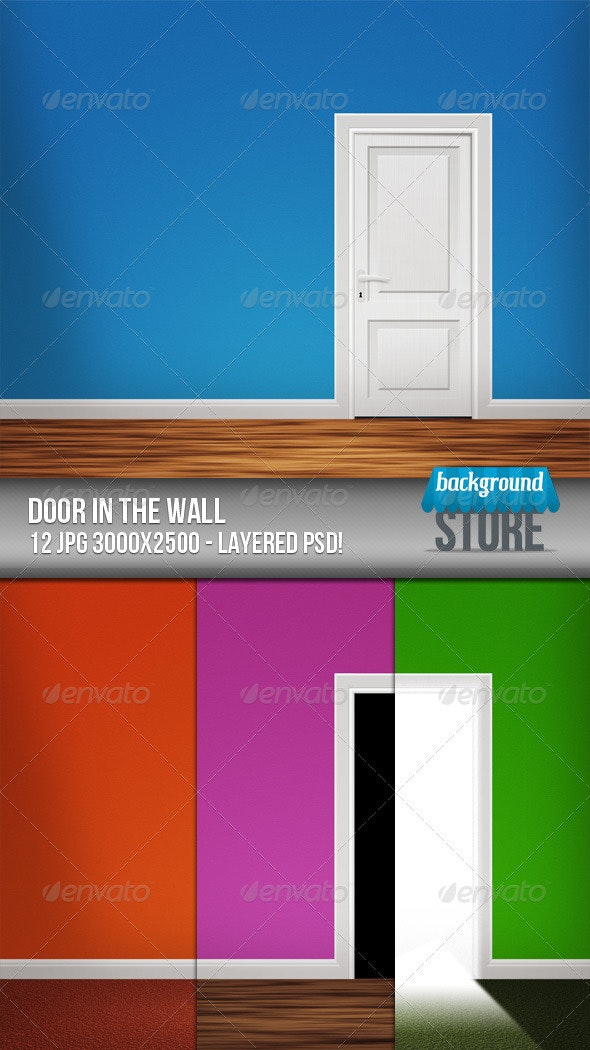 Door in the Wall Background - 3D Backgrounds