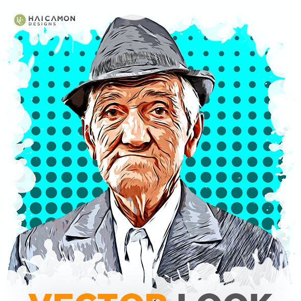 Vector Look Photoshop Action