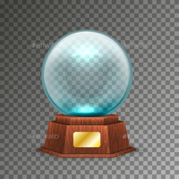 Isolated Magic or Crystal Ball on Transparent - Miscellaneous Vectors