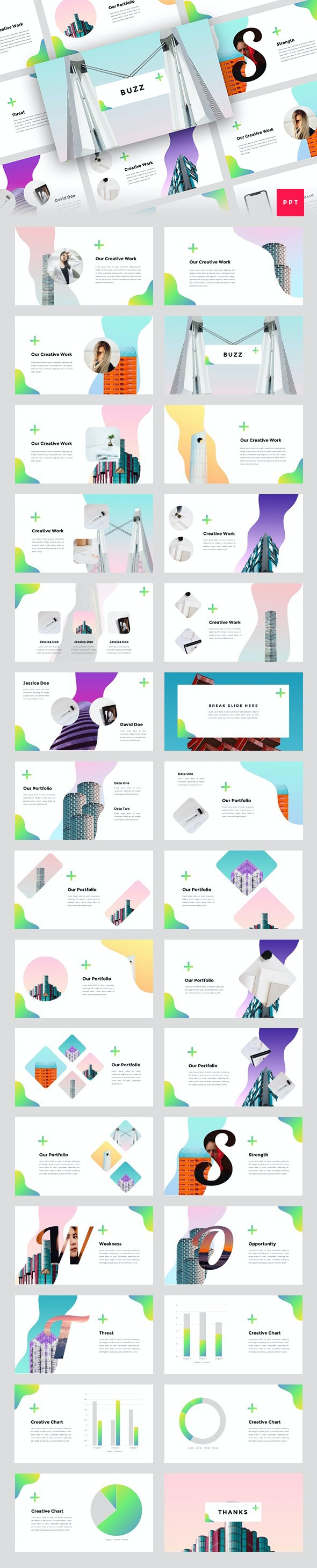 Buzz - Creative PowerPoint Template - Creative PowerPoint Templates