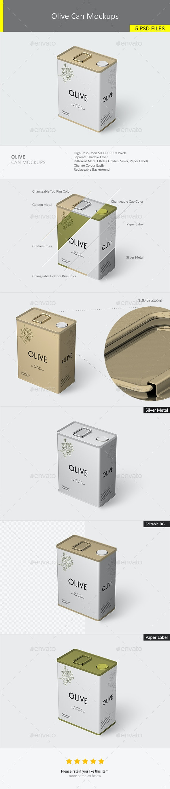 Olive Can Mockups - Graphics