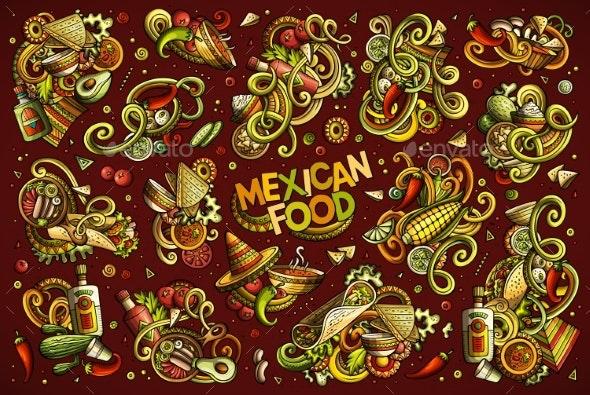 Vector Set of Mexican Food Combinations - Miscellaneous Vectors