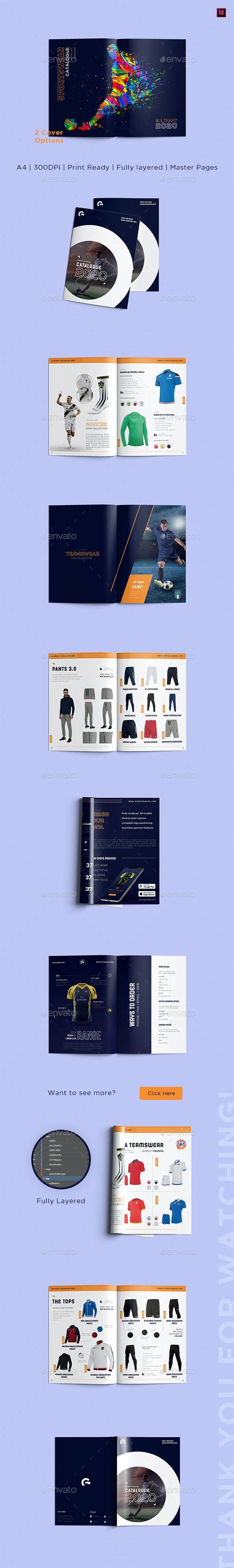 Sportswear Catalog Template - Catalogs Brochures