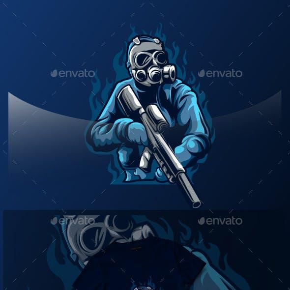 Blue Soldier Esport Logo