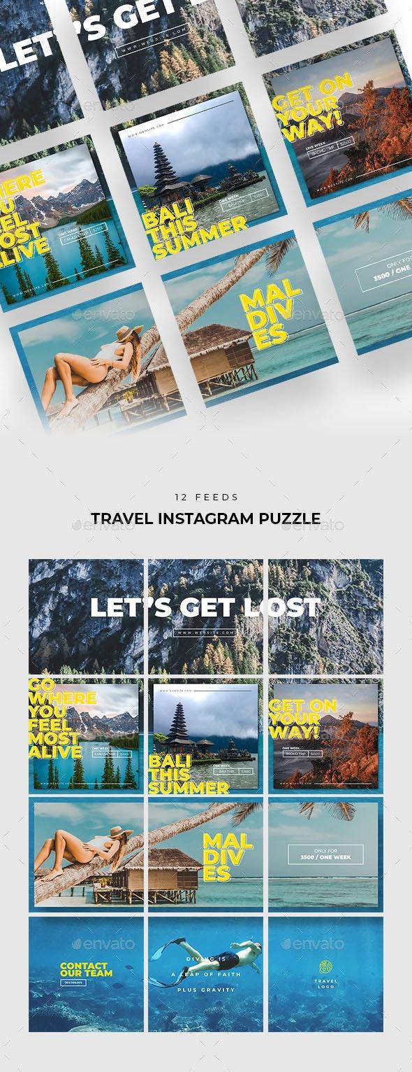Travel Instagram Puzzle - Social Media Web Elements