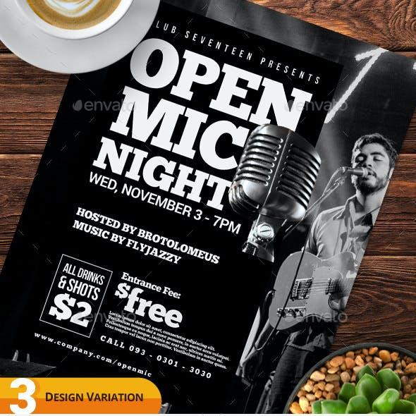 Open Mic Night Flyer Templates