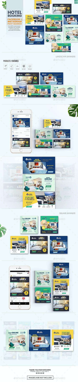 Social Media Banners - Hotel Booking - Miscellaneous Social Media
