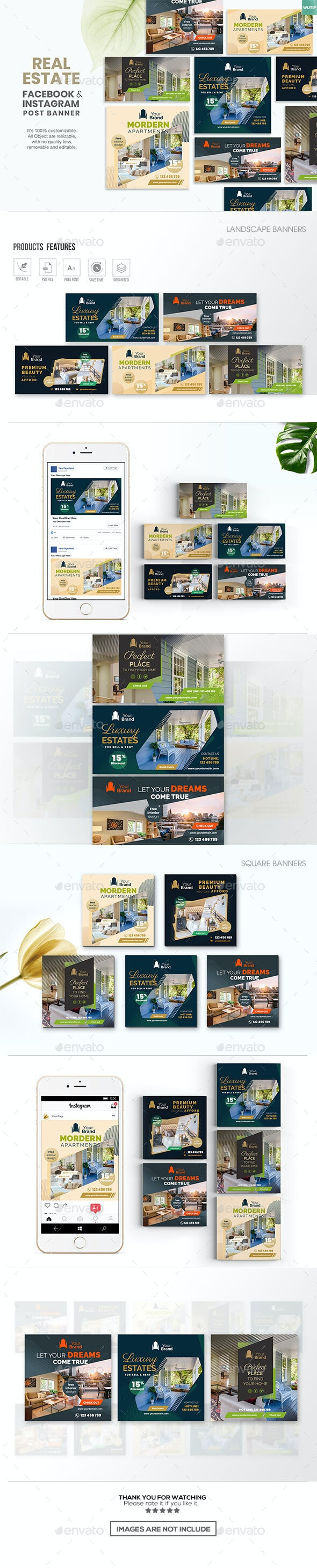 10 Social Media Banners-Real Estate - Miscellaneous Social Media